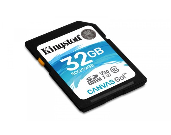 Kingston SD  32GB Canvas Go 90/45MB/s CL10 U3 V30