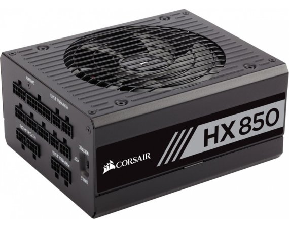 Corsair HX Series 850W 80 Plus Platinum                         135MM FAN, MODULAR PSU