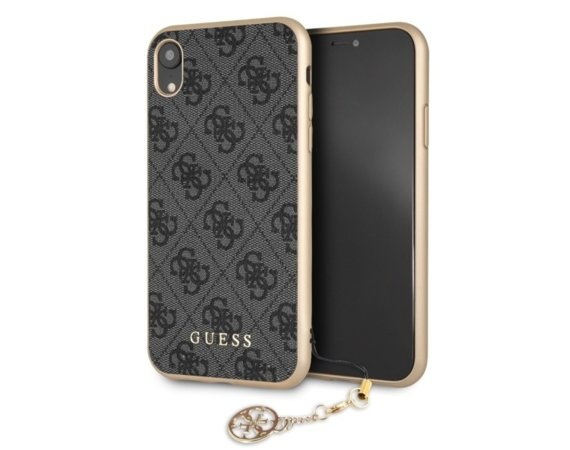 GUESS Etui hardcase GUHCI61GF4GGR iPhone Xr 4G Charms Collection szary