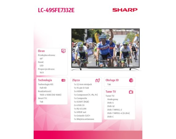 Sharp 49'' LED             LC49SFE7332E