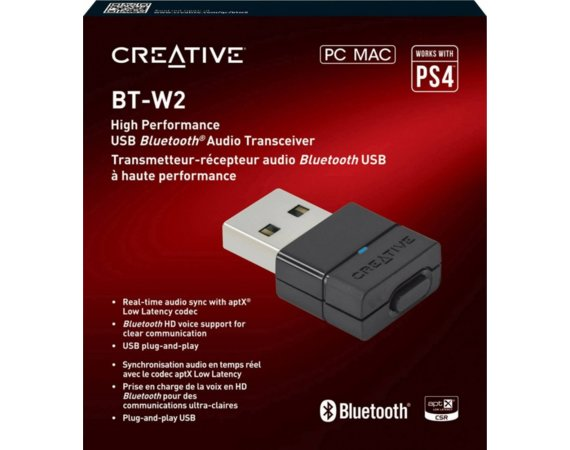 Creative Labs Bluetooth Adapter USB BT-W2