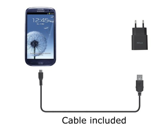 Trust 5W Wall Charger with Micro USB cable - black