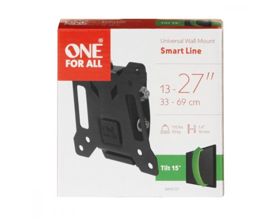 "One For All Uchwyt TV uchylny 13-27"" udźwig 50kg VESA 75x75 do 100x100"