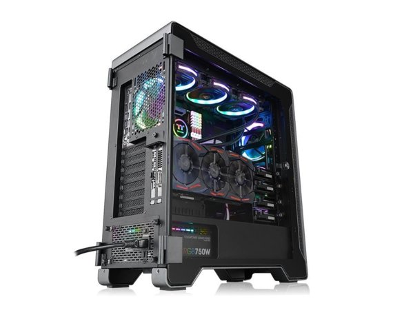 Thermaltake Obudowa TT Premium A500 AluminiumTempered Glass - szara
