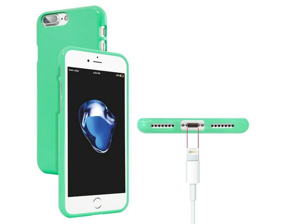 Mercury Etui JELLY Case iPhone 8 miętowy