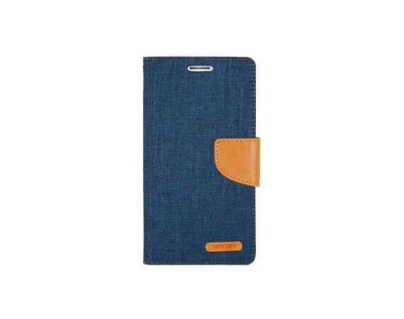 Mercury Etui CANVAS Xperia Z5 granatowo/karmelowe, notes