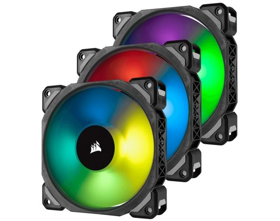 Corsair Fan LL120 RGB LED PWM 3 Fun Pack Premium Magnetic Levitation Fan ; Lighting Node PRO