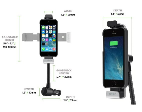 Belkin Car Navigation +Charge mount iPhone5/5s