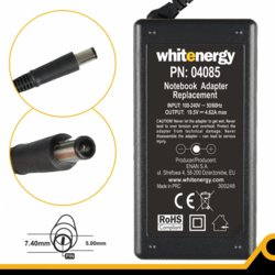 Whitenergy Zasilacz 19.5V | 4.62A 90W wtyk 7.4*5.0mm + pin Dell (04085)