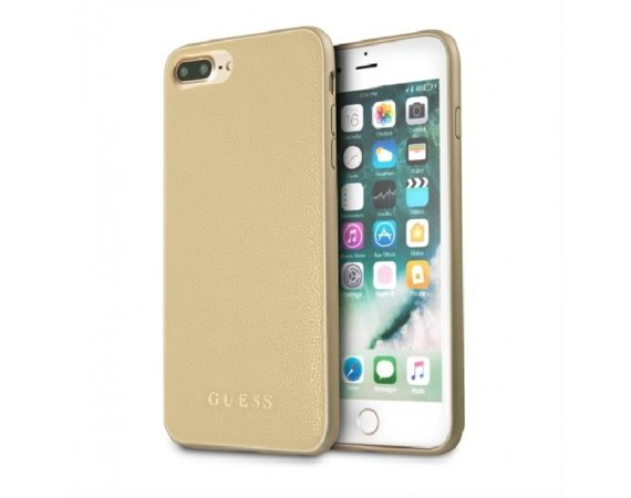 GUESS GUHCP7LIGLGO hardcase iPhone 7 Plus złoty Iridescent