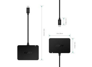 AUKEY CB-C58 USB-C HUB | 4K Ultra HD | HDMI | 4xUSB 3.0 | 5Gbps | PD Power Delivery