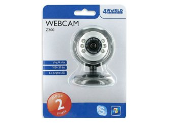 4world Easy WebCam Z200 - USB, 2Mpix z mikrofonem
