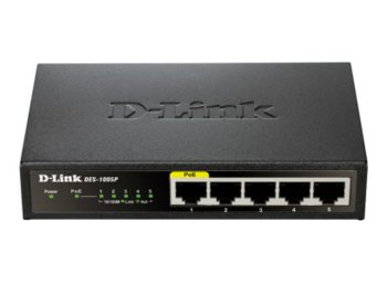 D-Link 5-port switch: 10/100 Metal Housing