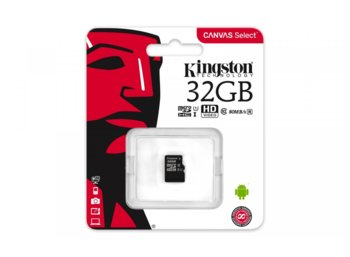 Kingston microSD  32GB Canvas Select 80/10MB/s