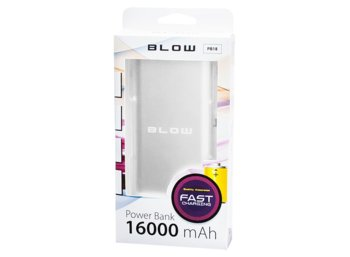 BLOW Power Bank PB18 16000mAh 2xUSB srebrny