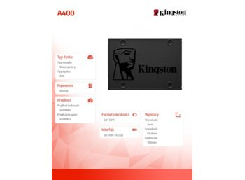 Kingston SSD A400 SERIES 960GB SATA3 2.5""