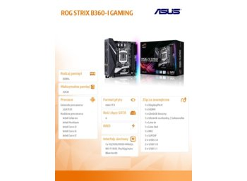 Asus ROG STRIX B360-I GAMING 2DDR4 HDMI/DP/M.2 mITX