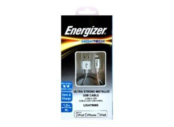 Energizer HIGHTECH Kabel Lightning Stal. Srebrny 1,2 m