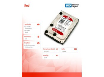 Western Digital WD Red WD30EFRX 3TB 3.5'' SATAIII 64MB  5400rpm