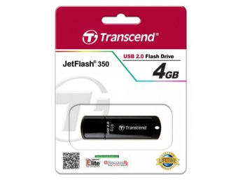 Transcend JETFLASH 350  4GB USB2.0 BLACK