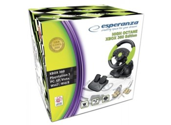 Esperanza KIEROWNICA EG104 PC/PS3 X-BOX 360, VIBRATION FOR