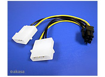 Akasa KABEL 6PIN AK-CB4-6 zasil. do VGA