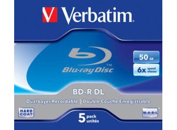 Verbatim BD-R DL  6x 5P Jewel 50 GB        43748