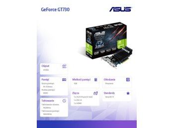 Asus GeForce CUDA GT730 1GB DDR3 PCI-E 64BIT HD/DVI/DS BOX