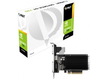 Palit GeForce CUDA GT730 2GB DDR3 PCI-E 64Bit DVI/HDMI/DSub BOX