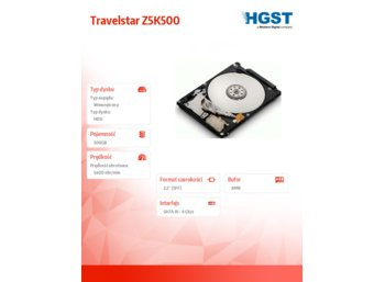 HGST Travelstar 500GB 2.5'' 5400rpm SATA3 7mm