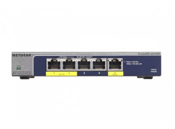 Netgear Switch Unmanaged Plus 5xGE (2xPoE+) - GS105PE