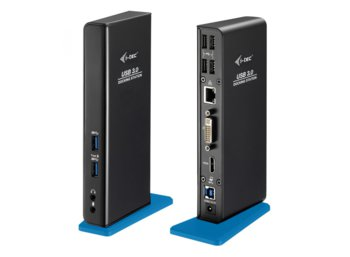 i-tec USB 3.0 Dual Docking Station Stacja dokująca HDMI DVI Full HD+ 2048x1152 + USB Charging Port Gigabit Ethernet