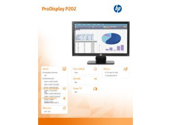 "HP 20"" ProDisplay P202  Monitor  K7X27AA"