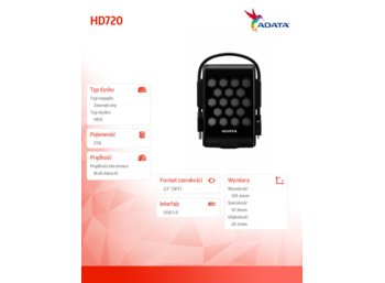 Adata DashDrive Durable HD720 2TB 2.5'' USB3.0 Black