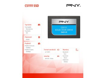 PNY SSD 240GB 2.5''SATA3 SSD7CS1111