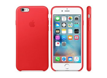 Apple iPhone 6s Leather Case RED            MKXX2ZM/A
