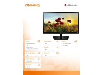 LG Electronics 23'' 23MP48HQ-P  IPS 5ms 250cd HDMI FullHD