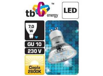 TB Energy Zarowka LED TB Energy GU 10 230V 4W Bialy Cieply