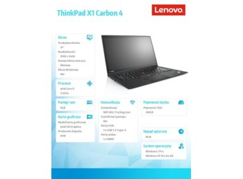 Lenovo ThinkPad X1 Carbon 4 20FB002TPB
