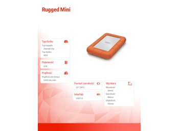 LaCie Rugged Mini 4 TB 2,5'' LAC9000633