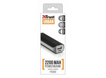 Trust UrbanRevolt Primo PowerBank 2200 Portable Charger - black