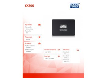 GOODRAM CX200 240GB  SATA3 2,5 560/500MB/s 7mm