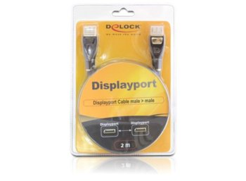 Delock Kabel DISPLAYPORT M->HDMI M 2M GOLD