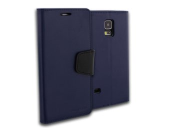 Mercury Etui SONATA Galaxy S5 granat/czarny, notes