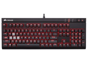 Corsair STRAFE Cherry MX Blue Gaming Keyboard Backlighting: RED LED