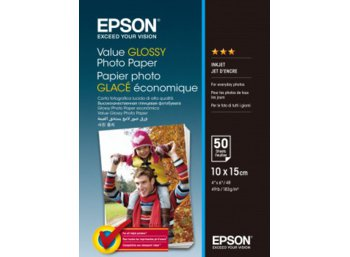 Epson Value Glossy Photo Paper 10x15   50 Kartek