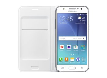 Samsung Flip Wallet White do J5