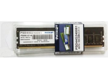 Patriot DDR4 SIGNATURE 4GB/2400MHz CL15 1.2V