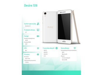 HTC Desire 728 Classic Rose Gold (White Luxury)