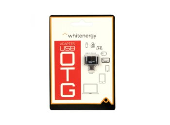 Whitenergy Adapter USB 2.0 OTG Czarny